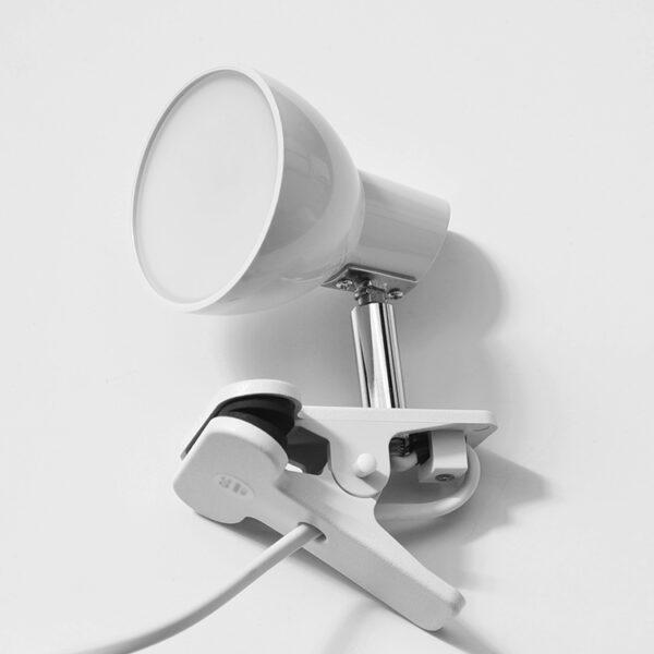 LED lampička s klipem bílá